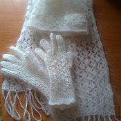 Аксессуары ручной работы. Ярмарка Мастеров - ручная работа Комплект шапка шарф перчатки. Handmade.