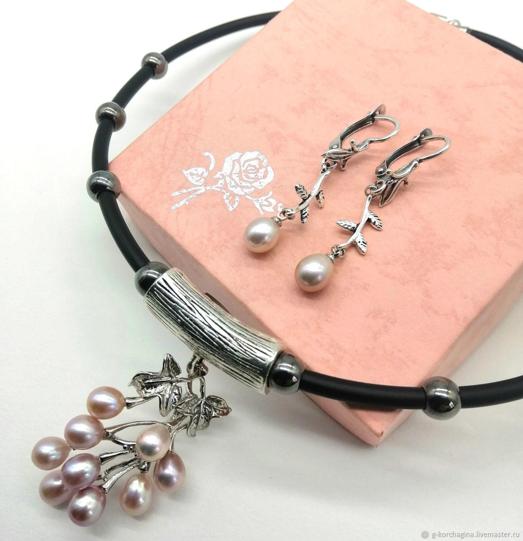43c7f37ec Jewelry Sets handmade. Livemaster - handmade. Buy Choker set with pendant  and pearl vine ...