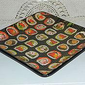 Посуда ручной работы. Ярмарка Мастеров - ручная работа тарелка для ролл. Handmade.