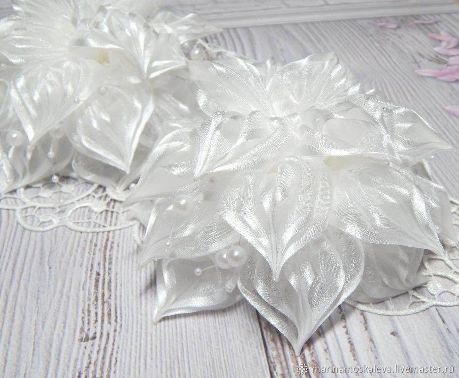 Bow bows white, Hairpins, Klin,  Фото №1