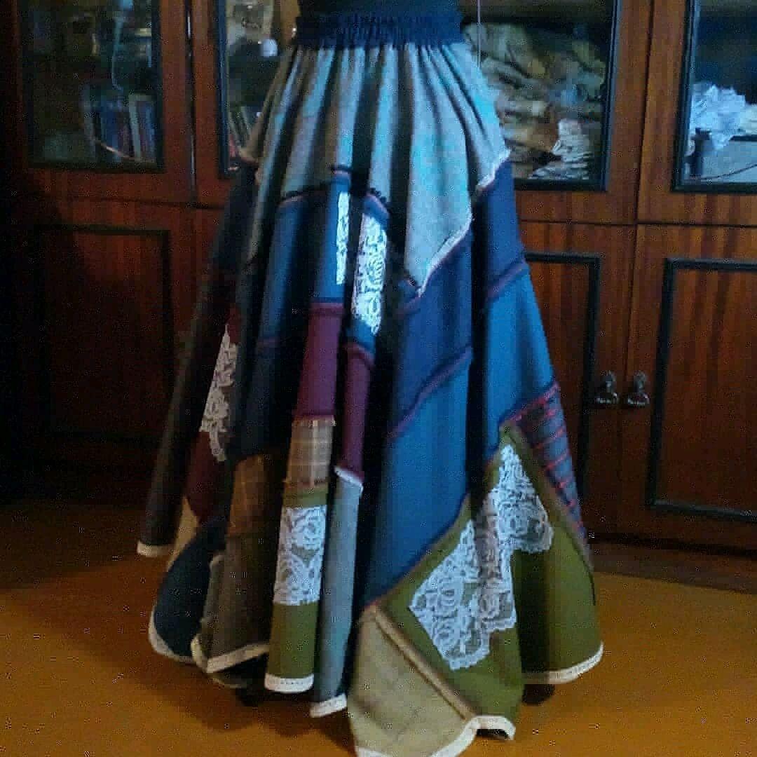 Long patchwork boho chic maxi skirt, Skirts, St. Petersburg,  Фото №1