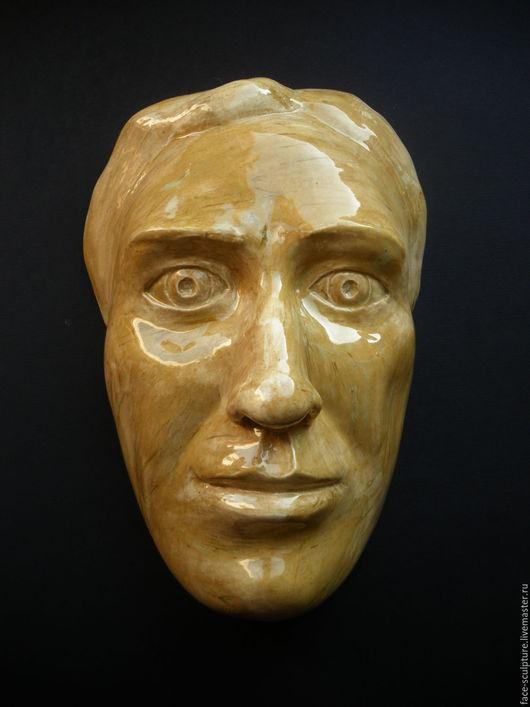 """Интерьерные  маски ручной работы. Ярмарка Мастеров - ручная работа. Купить """"Болезненное сомнение"""". Handmade. Желтый, интерьерное украшение, керамика"""