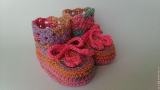 Для новорожденных, ручной работы. Ярмарка Мастеров - ручная работа. Купить Пинетки теплые Краски осени (2). Handmade. Пинетки