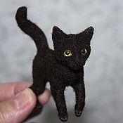 Куклы и игрушки handmade. Livemaster - original item Felt toy: cat Bitter Chocolate. Handmade.
