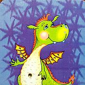 """Дизайн и реклама ручной работы. Ярмарка Мастеров - ручная работа Карманный календарик """"Счастливый дракончик"""" на 2012 год. Handmade."""