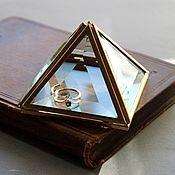 Свадебный салон handmade. Livemaster - original item Golden box. Box of glass. WEDDING. Box of brass. Handmade.