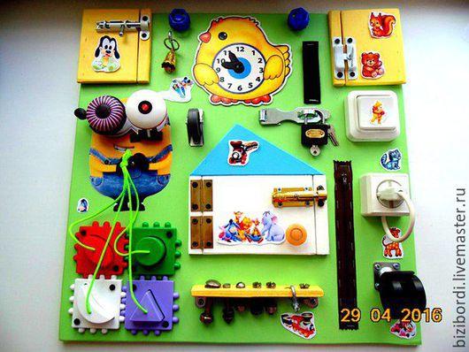 Развивающие игрушки ручной работы. Ярмарка Мастеров - ручная работа. Купить Бизиборд от Георгия 10. Handmade. Комбинированный, Монтессори