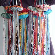 Куклы и игрушки ручной работы. Ярмарка Мастеров - ручная работа Весёлые медузы и рыбки. Handmade.