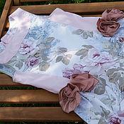 Работы для детей, handmade. Livemaster - original item Gentle romantic dress from Italian fabrics. 9/10 years. Handmade.