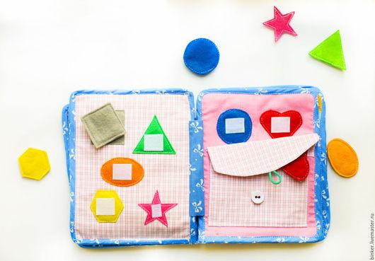 Развивающие игрушки ручной работы. Ярмарка Мастеров - ручная работа. Купить Формы простые (развивающая книжка). Handmade. Развивающая игрушка