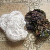 Обувь ручной работы. Ярмарка Мастеров - ручная работа Мужские тапочки зимние домашние - теплые чуни шерстяные носочки носки. Handmade.