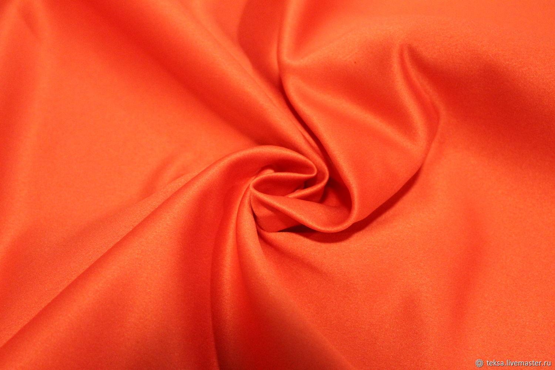 Атлас матовый прокатный цвет № 14 коралловый, Ткани, Видное,  Фото №1