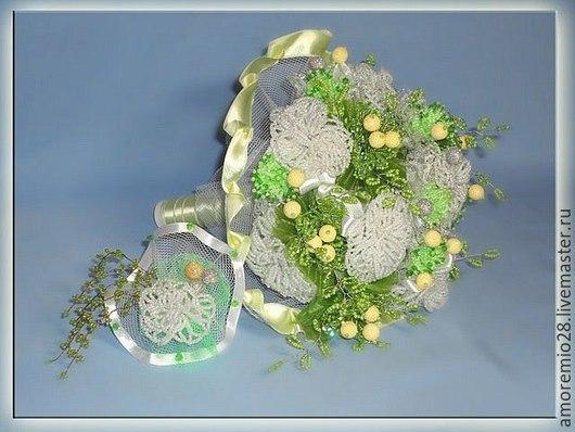 Свадебные цветы ручной работы. Ярмарка Мастеров - ручная работа. Купить свадебный букет из бисера. Handmade. Букет невесты, букет