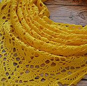 Аксессуары ручной работы. Ярмарка Мастеров - ручная работа Бактус вязанный лимонно-желтый. Handmade.