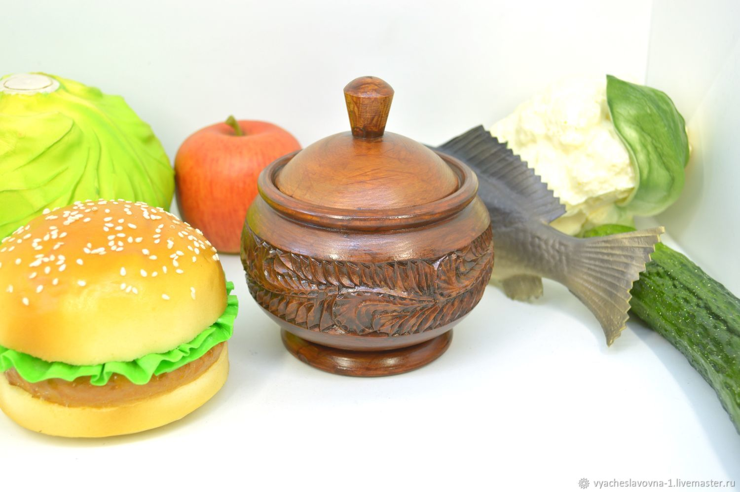 Jar-Cup made of wood carved, Jars, Moscow,  Фото №1