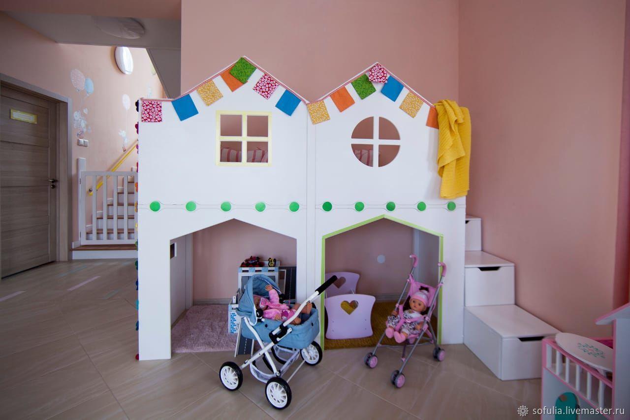 двухэтажный игровой домик, Кукольные домики, Казань,  Фото №1