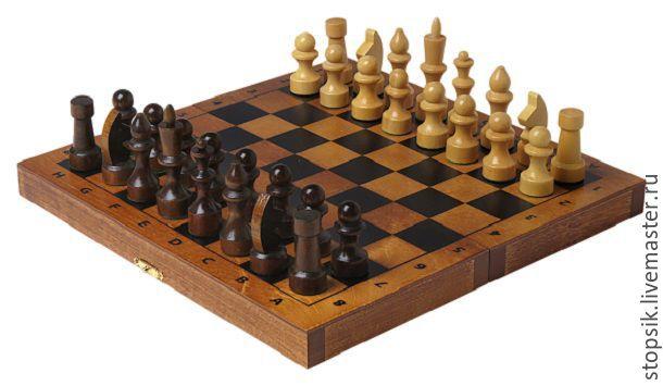 Настольные игры ручной работы. Ярмарка Мастеров - ручная работа. Купить Шахматы Тонированные (тёмные, малые) (36406). Handmade. Шахматы