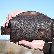 handmade. Livemaster - original item Men`s genuine leather dressing case