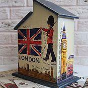 """Для дома и интерьера ручной работы. Ярмарка Мастеров - ручная работа Чайный домик """"Denim style. LONDON"""". Handmade."""