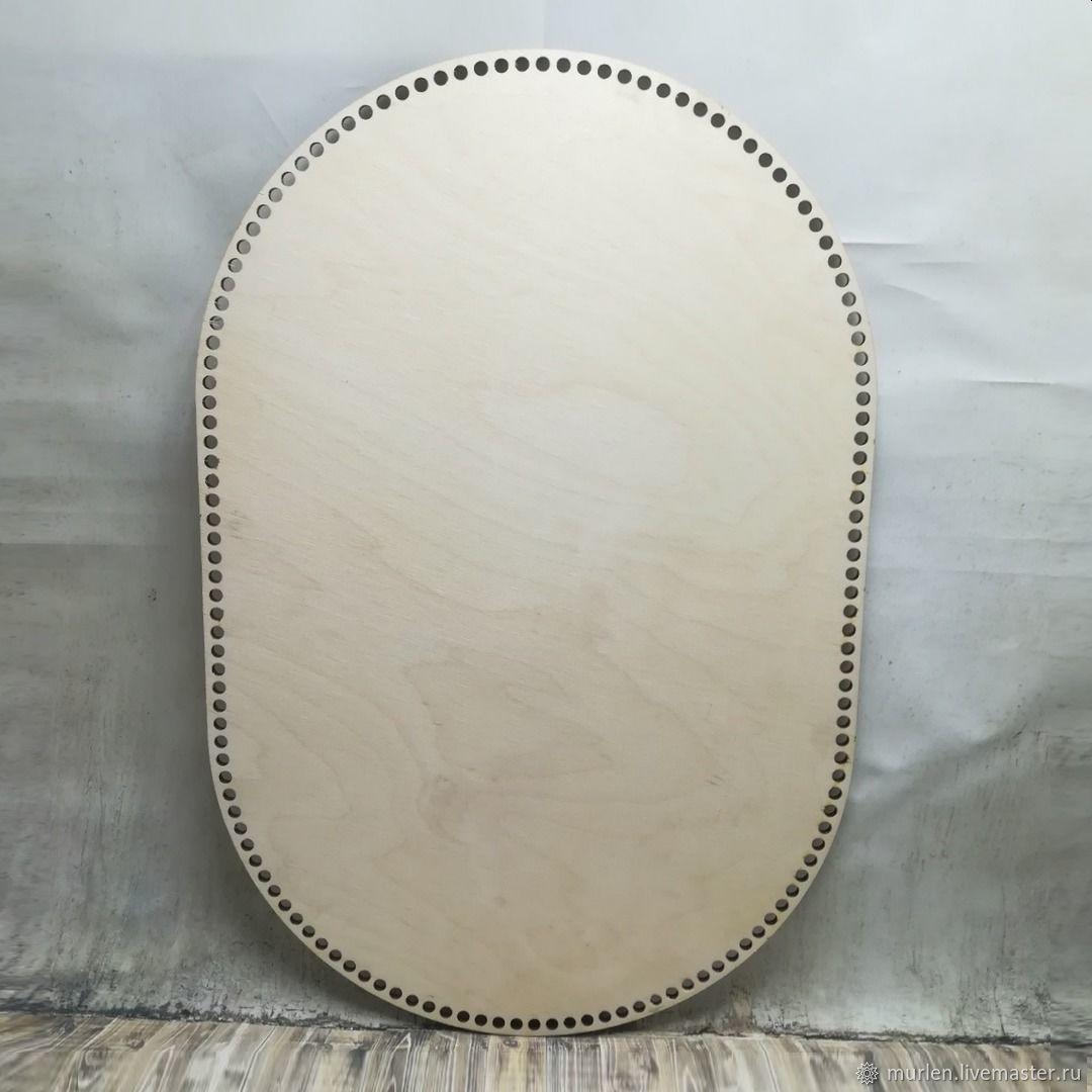 Wooden bottom 'Oval' (60h40 cm), Frameworks for knitting, Vladimir,  Фото №1