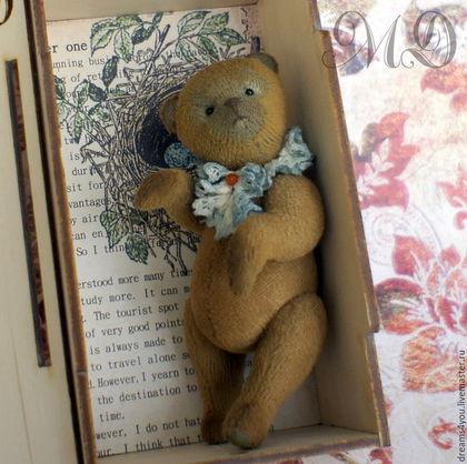 Мишки Тедди ручной работы. Ярмарка Мастеров - ручная работа. Купить Мини-тедди Маленький Принц 10 см.. Handmade.