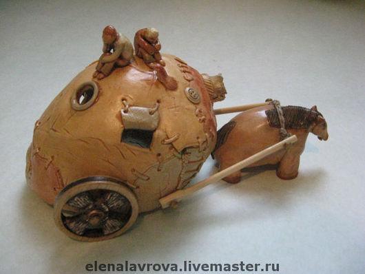 """Статуэтки ручной работы. Ярмарка Мастеров - ручная работа. Купить """"Маленькая лошадка..."""" интерьерная скульптура. Handmade. Авторская керамика"""