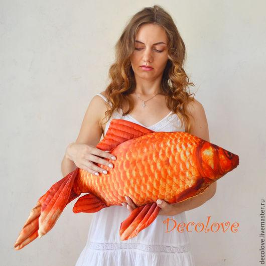 Подарки для мужчин, ручной работы. Ярмарка Мастеров - ручная работа. Купить Рыба-подушка «Карась. Золотая Рыбка». Подарок на день рождения ребенку. Handmade.