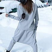 Одежда handmade. Livemaster - original item Light gray set, jacket and pants made of cotton - SE0542PM. Handmade.