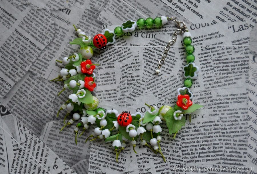 Necklace for girl 'Lily of the valley', Beads2, Kolomna,  Фото №1