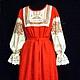 """Платья ручной работы. Ярмарка Мастеров - ручная работа. Купить """"Платье красавицы"""" льняное платье в славянском стиле. Handmade."""