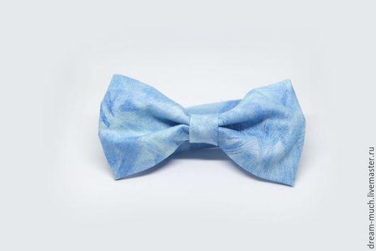 Галстуки, бабочки ручной работы. Ярмарка Мастеров - ручная работа. Купить Галстук-бабочка голубой. Handmade. Голубой, галстук-бабочка