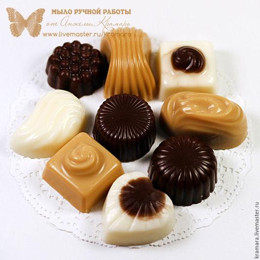 """Подарочные наборы косметики ручной работы. Ярмарка Мастеров - ручная работа. Купить Мыло """"Шоколадные конфеты"""". Handmade. Подарок"""