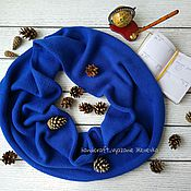 """Аксессуары ручной работы. Ярмарка Мастеров - ручная работа Снуд """"Королевский синий"""". Handmade."""