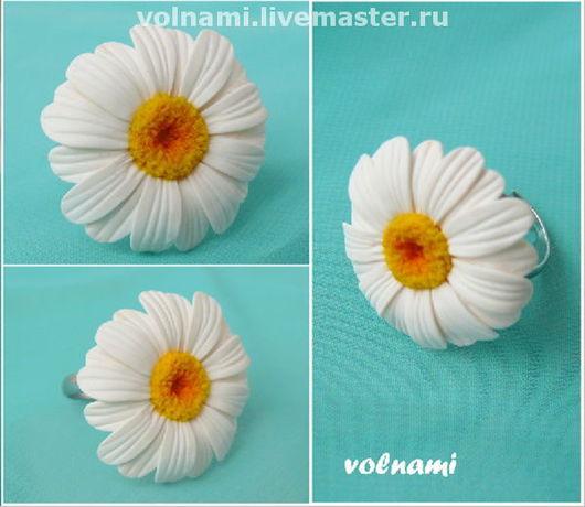 """Кольца ручной работы. Ярмарка Мастеров - ручная работа. Купить Кольцо """"Ромашка"""". Handmade. Кольцо, ромашка, цветы, белое"""