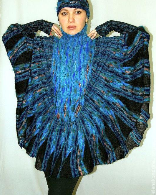 """Пончо ручной работы. Ярмарка Мастеров - ручная работа. Купить """"Райская птица"""" свитер-пончо. Заказ. Handmade. Свитер-пончо"""