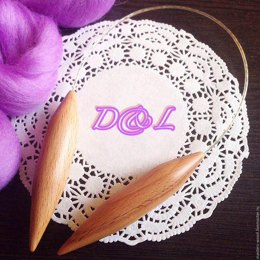 Вязание ручной работы. Ярмарка Мастеров - ручная работа. Купить Спицы круговые укороченые для вязания шапок 25 мм. Handmade.