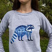 Одежда ручной работы. Ярмарка Мастеров - ручная работа Голубой енот. Handmade.