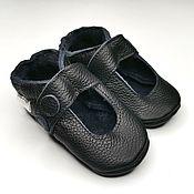 Одежда детская handmade. Livemaster - original item Baby Moccasins, Leather Baby Shoes,Black Baby Sandals,Ebooba. Handmade.