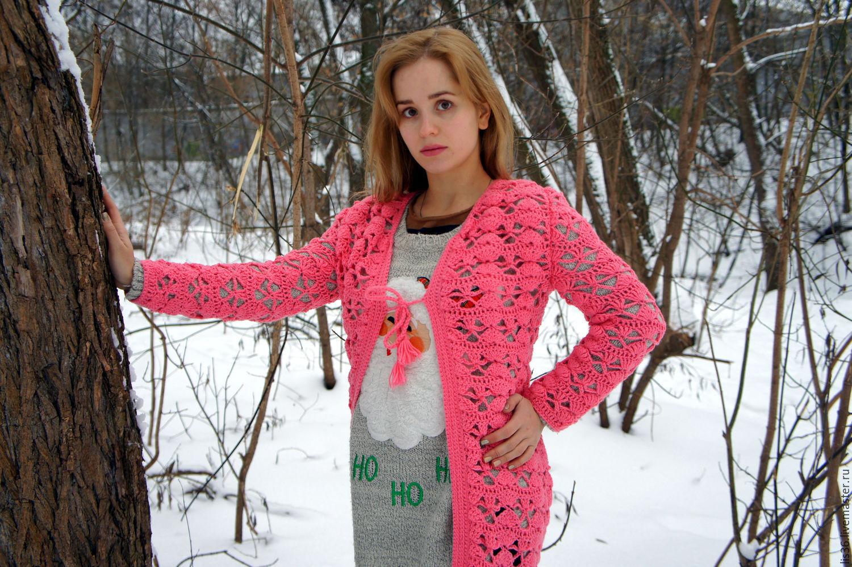 """Ажурный кардиган """"Чаровница"""", Кардиганы, Москва, Фото №1"""