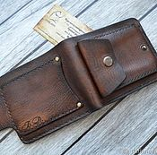 Сумки и аксессуары handmade. Livemaster - original item Personalized men`s leather wallet #15. Handmade.