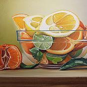 Картины и панно ручной работы. Ярмарка Мастеров - ручная работа Картина пастелью Цитрусовые. Handmade.