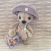 Куклы и игрушки ручной работы. Ярмарка Мастеров - ручная работа Медвежонок Тедди в шляпке. Handmade.