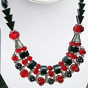Украшения handmade. Livemaster - original item Necklace multi-row hematite crystal and Oriental-style Paso Doble.. Handmade.