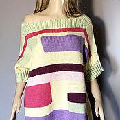 """Одежда ручной работы. Ярмарка Мастеров - ручная работа Платье-свитер """"Модный тренд"""". Handmade."""