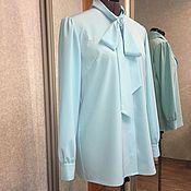 Одежда ручной работы. Ярмарка Мастеров - ручная работа Блузка с воротником галстук. Handmade.