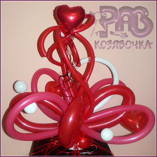 Подарки для влюбленных ручной работы. Ярмарка Мастеров - ручная работа. Купить Настроение любви - настольная композиция из шаров. Handmade.