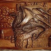 handmade. Livemaster - original item Picture of a tree Resting dragon 40h30h3. Handmade.