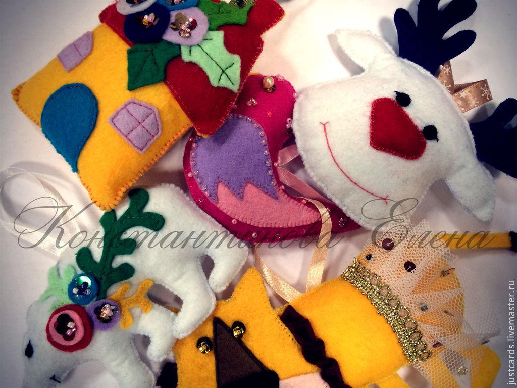 Развивающие игрушки ручной работы. Ярмарка Мастеров - ручная работа. Купить Игрушки из фетра. Handmade. Развивающие игрушки, елочные игрушки