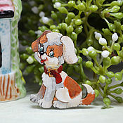 Украшения handmade. Livemaster - original item Brooch wooden dog icon Molly. Handmade.