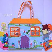Куклы и игрушки ручной работы. Ярмарка Мастеров - ручная работа Кукольный домик-сумочка. Handmade.